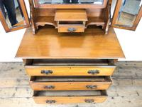 Antique Satin Walnut Dressing Table with Mirrors (4 of 10)