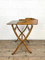 Antique Oak Folding Campaign Desk (7 of 10)