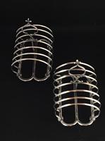 Pair of Victorian  Silver Plated Toast Racks c.1870 (3 of 5)