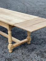 Large Bleached Oak Farmhouse Dining Table with Extensions & Storage (32 of 35)