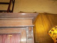 Victorian Limed Oak Glazed Bookcase (3 of 5)