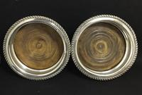 Pair of Edwardian Silver Plated on Copper Bottle Coaster (4 of 5)