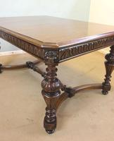 Antique Carved Oak Dining Centre Table (10 of 12)