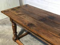 Very Early Oak Farmhouse Refectory Dining Table (17 of 31)