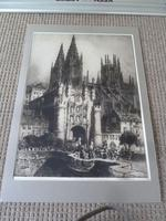 "Andrew .F. Affleck , Massive Etching- "" Burgos Cathedral, Spain"" (4 of 5)"