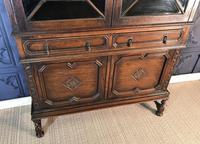 Oak Twist Leg Bookcase (7 of 13)