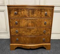 Re Finished Burr Walnut Serpentine Chest of Drawers (3 of 10)