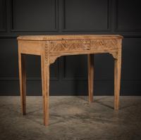 Raw Oak Sandblasted Side Table (2 of 11)