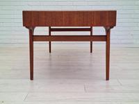 Danish Sofa Table, Teak Wood, Original Very Good Condition 1960s (8 of 16)
