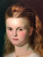 Huge 19th Century Young Fine Scottish Girl Portrait Matthias Robinson 1856-1895 (30 of 37)