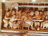 'Last Supper' High Relief Carving in Lime Wood, by Scottish Sculptor Alan Lees (5 of 9)