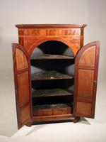 Regency Period Free Standing Mahogany Corner Cupboard (2 of 4)