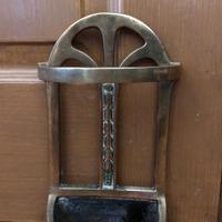 Brass Door Porter - Door Stop - In Shape of a Stick Stand (4 of 8)