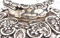 Victorian  Silver Mounted Glass Inkwell. Wm. Comyns & Sons 1895 (3 of 4)