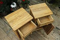Fabulous! Pair of Old Stripped Pine Bedside Cabinets / Cupboards - We Deliver! (6 of 9)