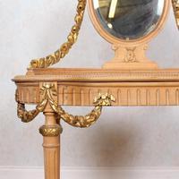 Neoclassical Marble Dressing Table Gilt Mirrored Vanity Satinwood (6 of 14)