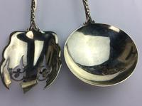 """Sterling Silver Canadian Servers """"Enamel"""" with Indian Motifs Available Worldwide (9 of 11)"""