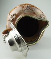 Large & Handsome Stoneware Salt Glaze Sprigged Beer Jug 19th Century (7 of 9)
