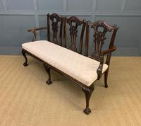 Mahogany Chippendale Style Triple Chair Back Settee (10 of 18)
