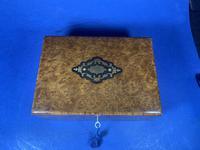 19th Century French Burr Cedar Inlaid Box (4 of 11)