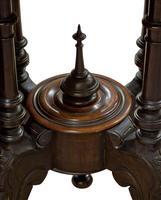 Oval Inlaid Walnut Loo Table on Quadruple Base (7 of 8)