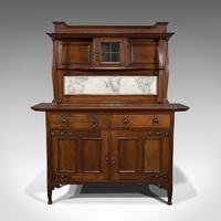 Large Antique Sideboard, English, Oak, Dresser, Cabinet, Liberty & Co, Victorian (2 of 12)