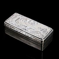 Georgian Solid Silver Snuff Box with Pheasant Scene - Thomas Shaw 1834 (10 of 28)
