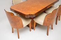 Art Deco Burr Walnut Dining Table & Cloud Back Chairs by Epstein (3 of 13)