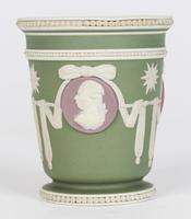 Wedgwood Georgian Three Color Jasperware Medallion Vase c.1790 (12 of 15)