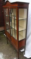 1900s Mahogany 2 Door China Cabinet with Dome Top (3 of 5)