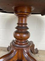 Victorian Mahogany Oval Tilt Top Table (3 of 12)