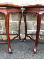 Pair of Oriental Chinese Marble Top Console Tables (11 of 12)