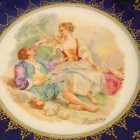 Austrian Porcelain Frilled Cabinet Plate (3 of 7)