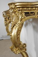 19th Century Gilt Console Table with Marble Top (14 of 17)