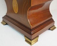 Edwardian Tulip shaped 8-Day Mantel Clock English Mahogany Inlaid Striking Mantle Clock Magnificent Size (3 of 11)
