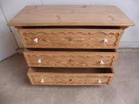 Georgian Pretty Moulded Antique Pine Chest of Drawers to wax / paint (11 of 13)