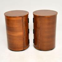 Pair of Art Deco Walnut Bedside Chests (12 of 13)