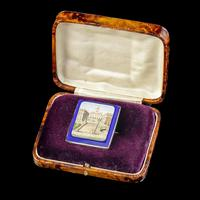 Antique Victorian Micro Mosaic Brooch 18ct Gold c.1860 Boxed (4 of 8)
