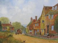 Large oil on canvas English countryside view  Listed artist Richard Temple (Free shipping to Mainland England) (7 of 10)