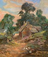 Original 19th Century British Farmland Countryside Landscape Oil Painting (3 of 11)