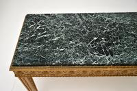 French Giltwood Marble Top Coffee Table c.1930 (4 of 8)