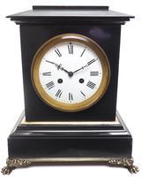 Antique French Slate & Ormolu Mantel Clock striking 8 day (6 of 11)