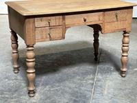 French Bleached Oak Writing Desk (6 of 21)