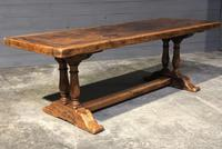 Wonderful French Chestnut Farmhouse Refectory Dining Table (17 of 37)