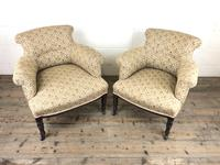 Victorian Three Piece Suite with Gold Floral Upholstery (23 of 26)