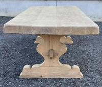 Huge French Bleached Oak Farmhouse Dining Table (18 of 34)