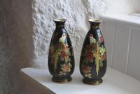 Pair of Crown Devon Lusterware Vases Decorated with Parrots (2 of 10)