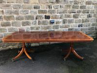 Mahogany Twin Pillar Extending Dining Table To Seat 10 People