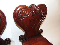 Pair of Regency Mahogany Hall Chairs (3 of 7)