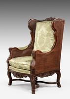 Early 20th Century Mahogany Framed Bergere Chair (2 of 4)
